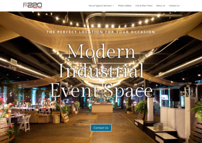 Factory 220 Event Space – Website