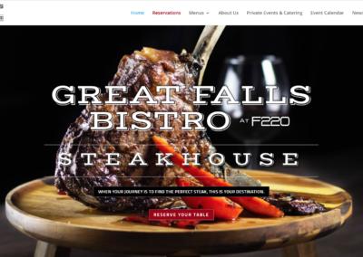 Great Falls Bistro (Steakhouse) Website